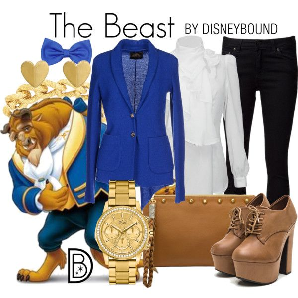 The Beast by leslieakay on Polyvore featuring CYCLE, Driftwood, Lacoste, Adele Marie, disney, disneybound and disneycharacter