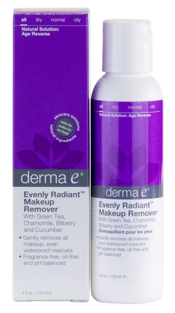 Get it all off! Derma e's makeup remover is formulated