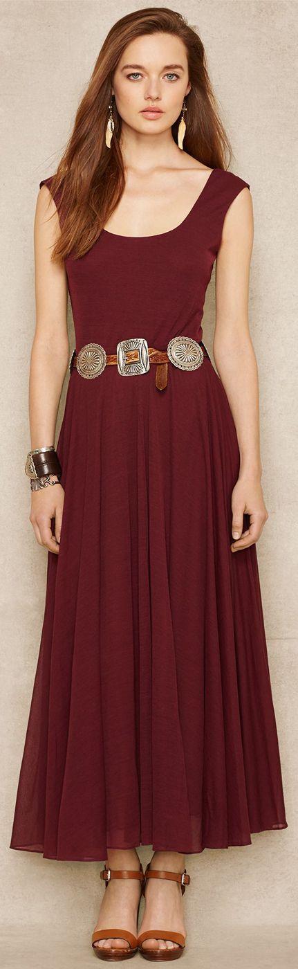 Ralph Lauren Blue Label Scoopneck Jersey Dress