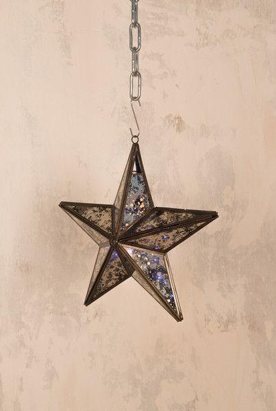 Glass Hanging Star Tealight Holder