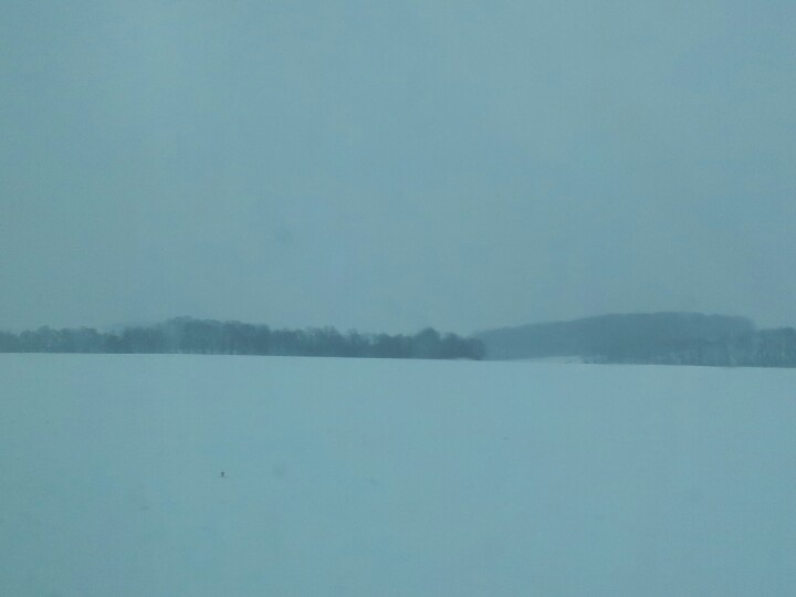 In the middle of nowhere. Snow