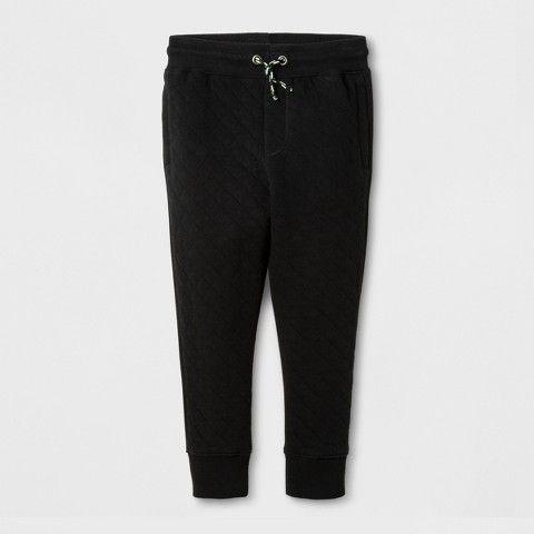 Cat & Jack Toddler Boys' Jogger Pants Quilted Black