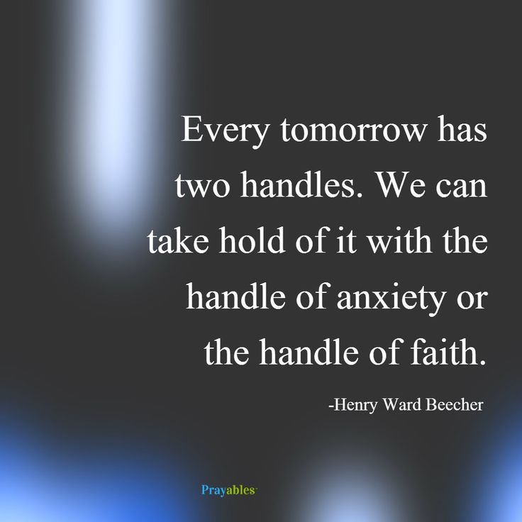 Every tomorrow has two handles