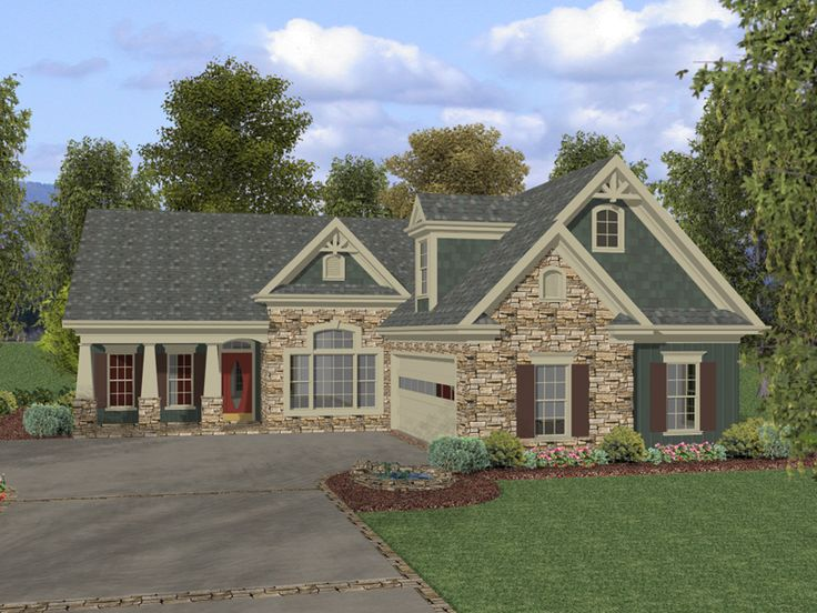 Arts and crafts house plan front of home 013d 0136 from for House plans and more com home plans