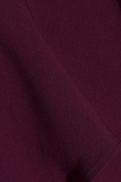 Elie Saab - One-shoulder Ruffled Stretch-crepe Jumpsuit - Grape - FR44
