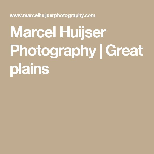 Marcel Huijser Photography | Great plains