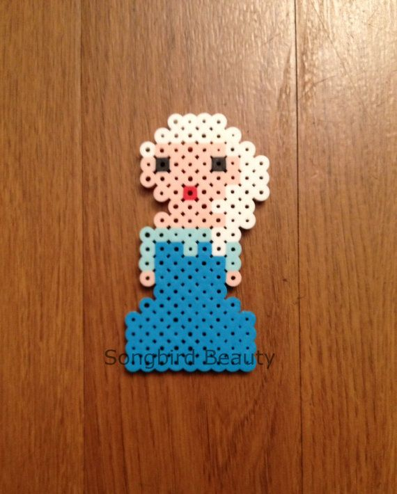 Frozen Elsa Perler Beads by SongbirdBeauty