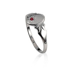 Red stone signet ring $35