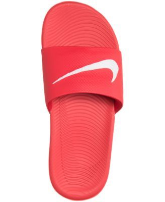 1c5aefb6e Nike Boys  Kawa Slide Sandals from Finish Line - Red 4
