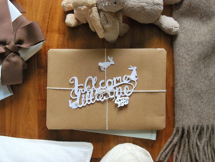 'welcome little one' paper cut gift topper by frances & francis | notonthehighstreet.com