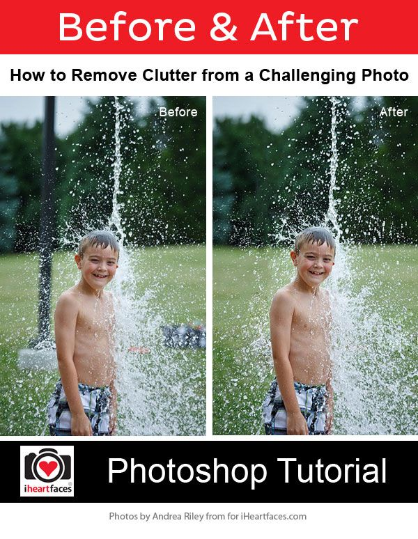 Solving Challenging Background Editing Problems - Photoshop Tutorial by Andrea Riley for iHeartFaces.com