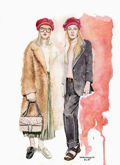 Gucci Fall 2015 RTW - illustration by Aleksandra Stanglewicz