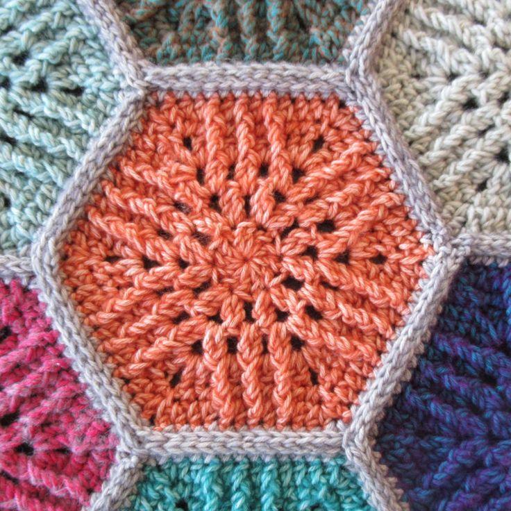 FREE Crochet Pattern Sunbeam Hexagon Motif