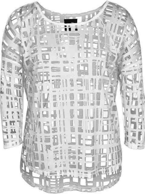 Køb NÜ Top 4968-50, Transparent bluse . 2 farver, fri lev
