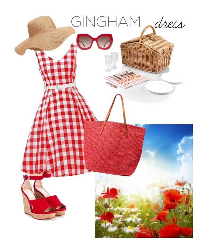 """Pic-nic party"" by simopisco on Polyvore featuring moda, M&Co, Mar y Sol, Picnic Time, Alice + Olivia, Old Navy e Jimmy Choo"