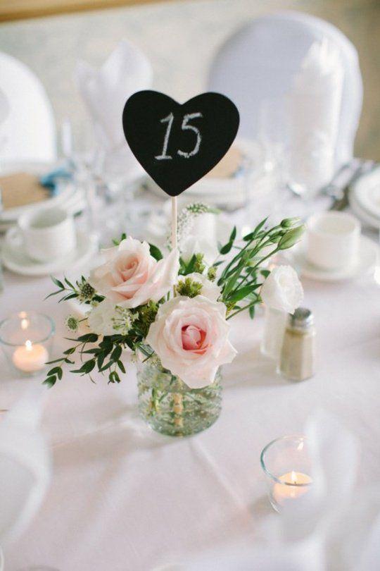 centre de table mariage romantique