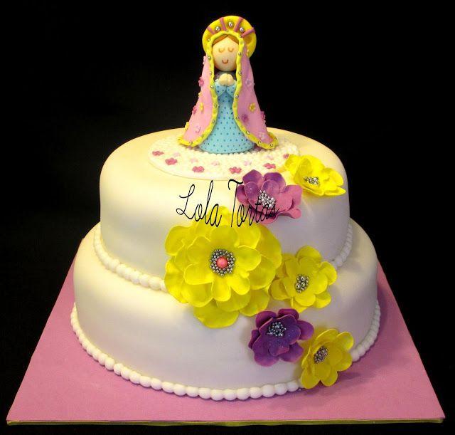 Lola Tortas: Torta Virgencita Plis Torta de la virgen de Guadalupe para bautizo.