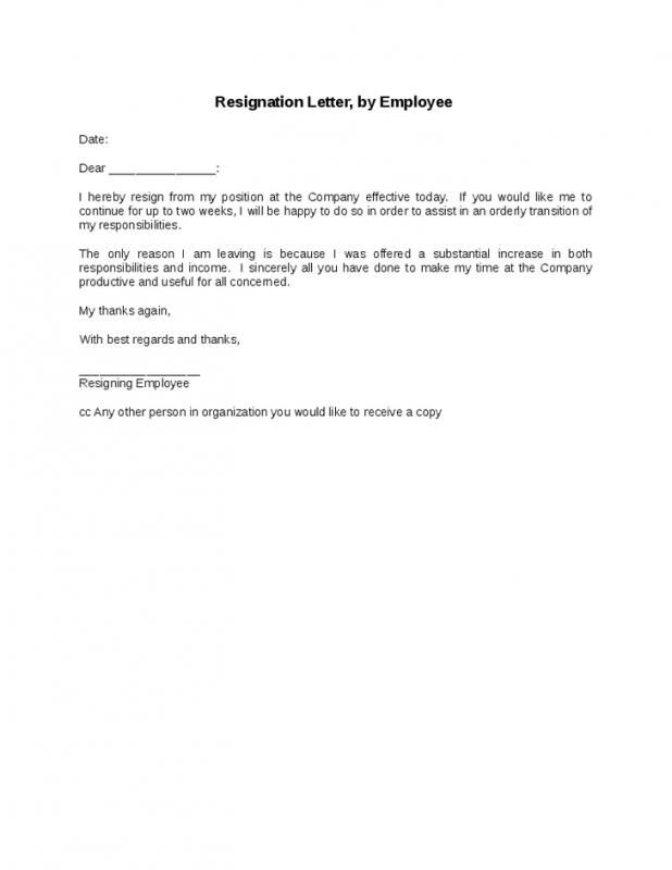 Letters Of Resignation Samples Job Resignation Letter  Template  Pinterest  Job Resignation .
