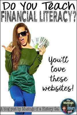 Websites to help you teach financial literacy