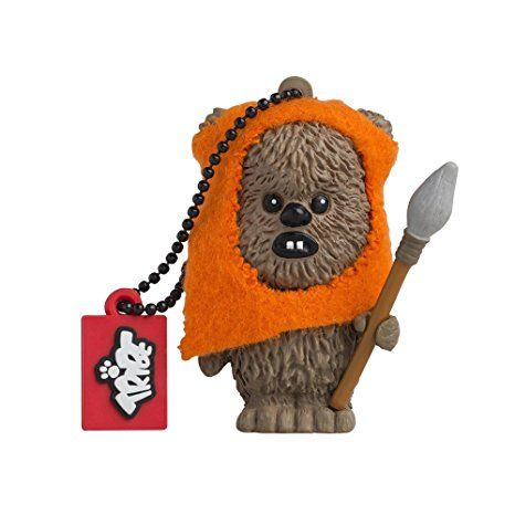 Tribe Disney Star Wars Pendrive Figur USB Stick 8GB Speicherstick Lustig USB Flash Drive 2.0, Memory Stick, USB Gadget, Schlüsselanhänger Kappenhalter - Wicket (Mehrfarbig)