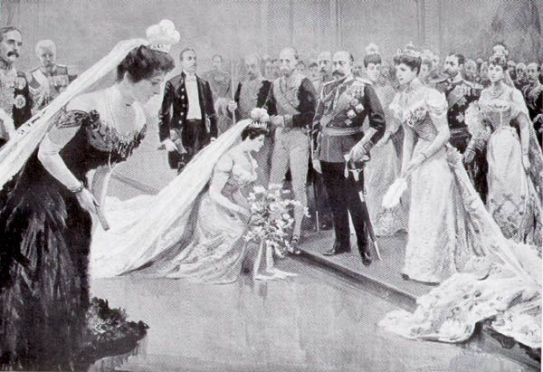 This is an image of a court presentation in the Edwardian era. My heroine's father goes to great trouble and expense to ensure his daughter is presented to the king and queen (Edward VII and Alexandra) to increase her chances of a 'good' marriage.
