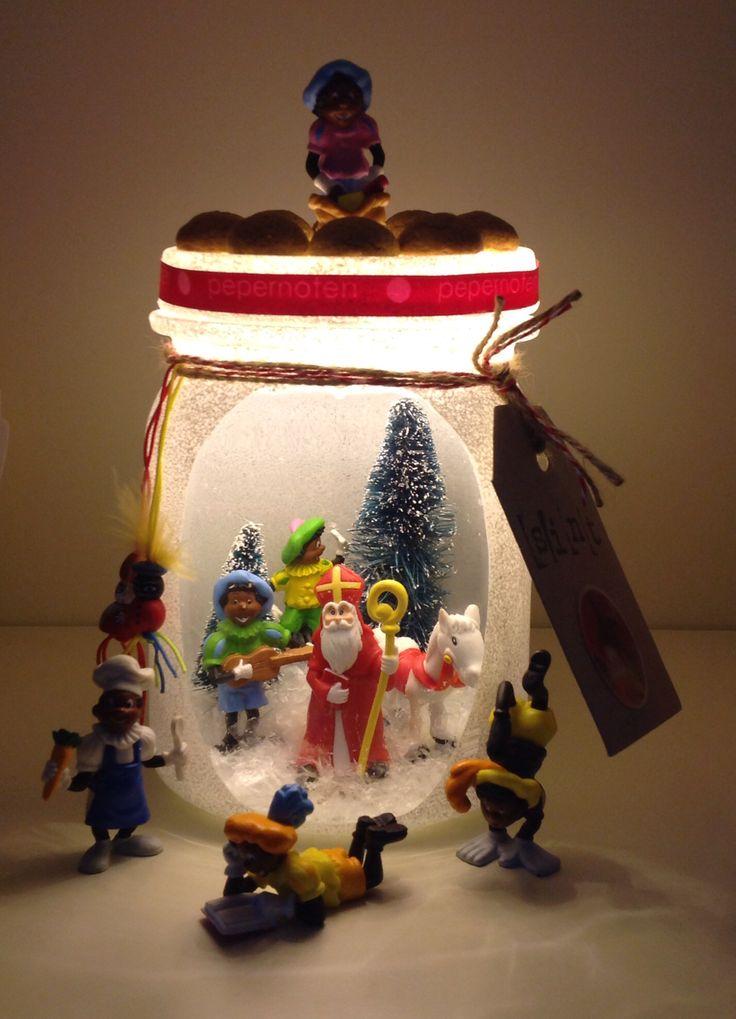 Gezellige Sinterklaas pot geknutseld