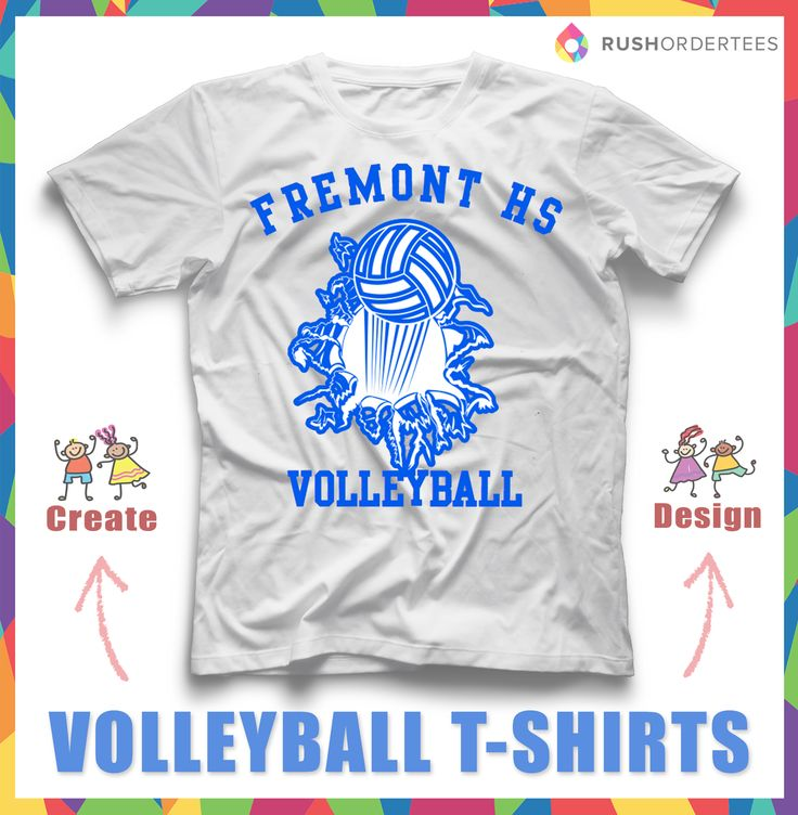 Volleyball Custom T Shirt Design Idea For Your Team. Edit And Design Online  With