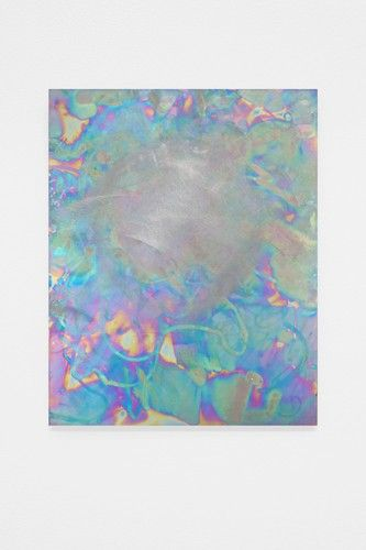 "Danish-born artist Mikkel Carl (b. 1976) ""Untitled"", 2014. Sulphuric acid on titanium. #gleamy"