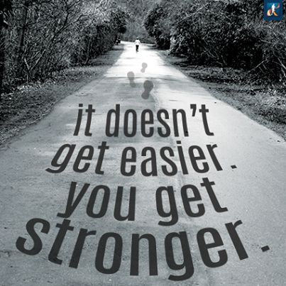 Going through a 6 month injury where I was on crutches for 7 weeks, no working out for 2 months, this is so true. You might not get physically stronger, but the determination and resilience you build while going through an injury like this is something that will change you forever- and for the better