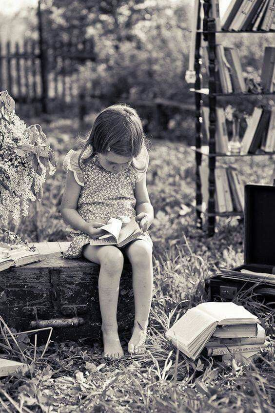 I love to see young children reading