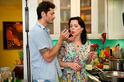 """""""Food is the axle that our family spins around, and dinnertime is the most important part of our day. It's the only moment when we all sit together and share."""" —Gabriele Corcos, who cohosts the Cooking Channel show Extra Virgin with wife Debi Mazar (their two little girls are frequent guest stars) - Redbook.com"""