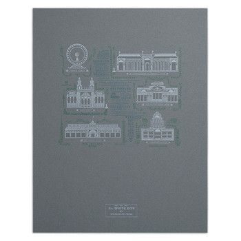 "The White City 14"" x 18"" Letterpress Print, by Starshaped Press (Handmade in Chicago!)"