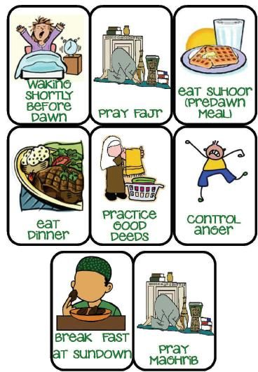 Fasting Day Sequence Cards   Umm Abdul Basir's Creative Corner