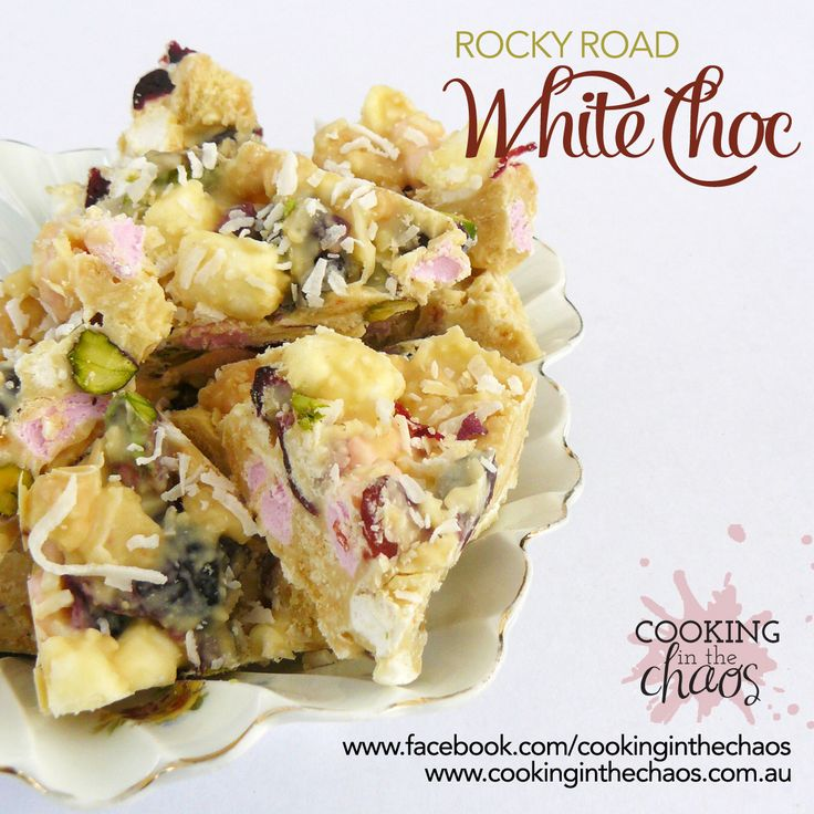 White Chocolate Rocky Road. Great for Christmas treats or gifts - Thermomix Recipe - Cooking in the Choas