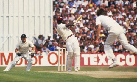 Viv Richards smashing 189 not out vs England in 1984.  My favourite one day innings ever.  The windies were 102 for 7, then 166 for 9 before getting to 272.  Richards scored his runs off 170 balls.  Breathtaking, totally breathtaking.