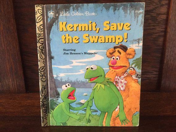 1990s Vintage Children's Book Kermit Save by BanterVintageBooks