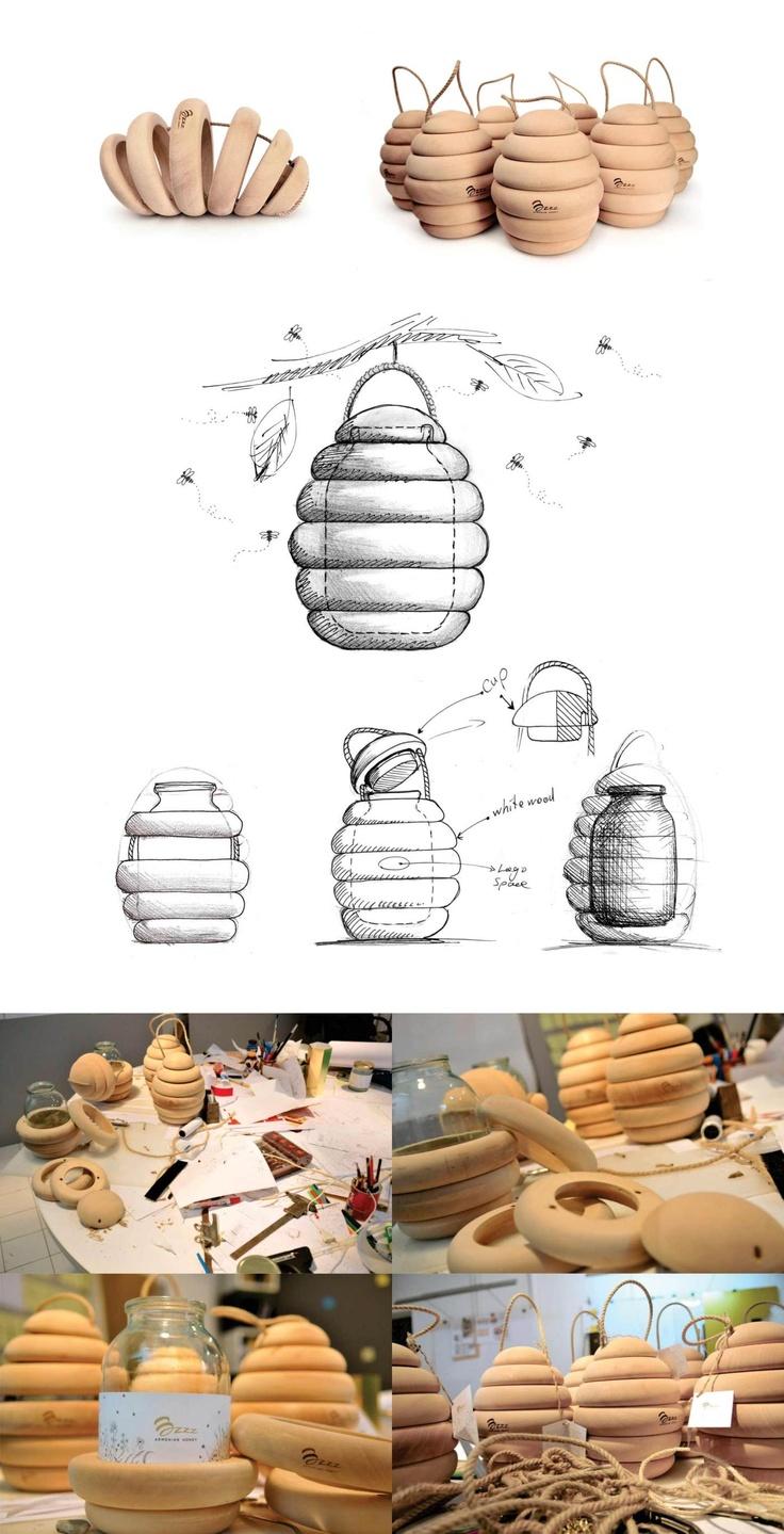 proceso del diseño de packaging para miel del estudio de backbone.