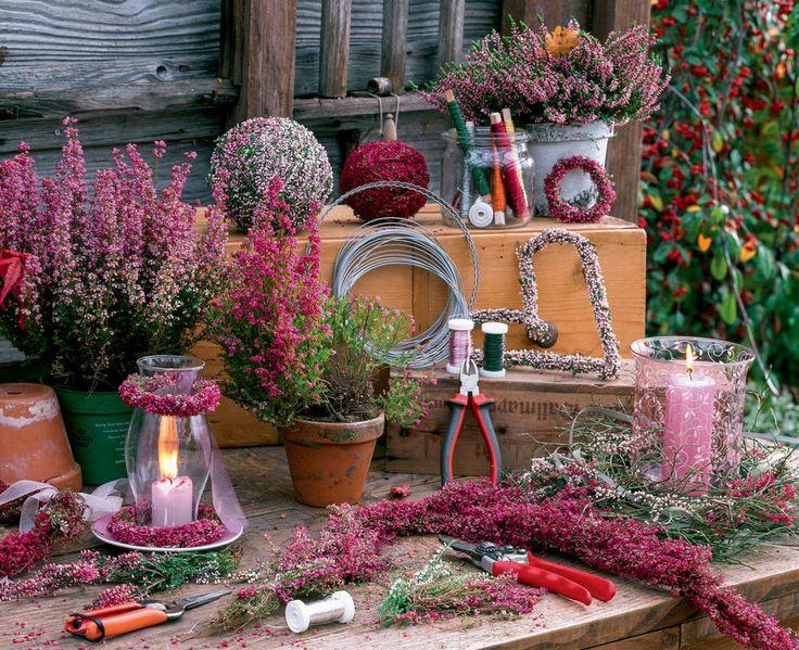 Herbstdekoration: Oh, du schöne Heide