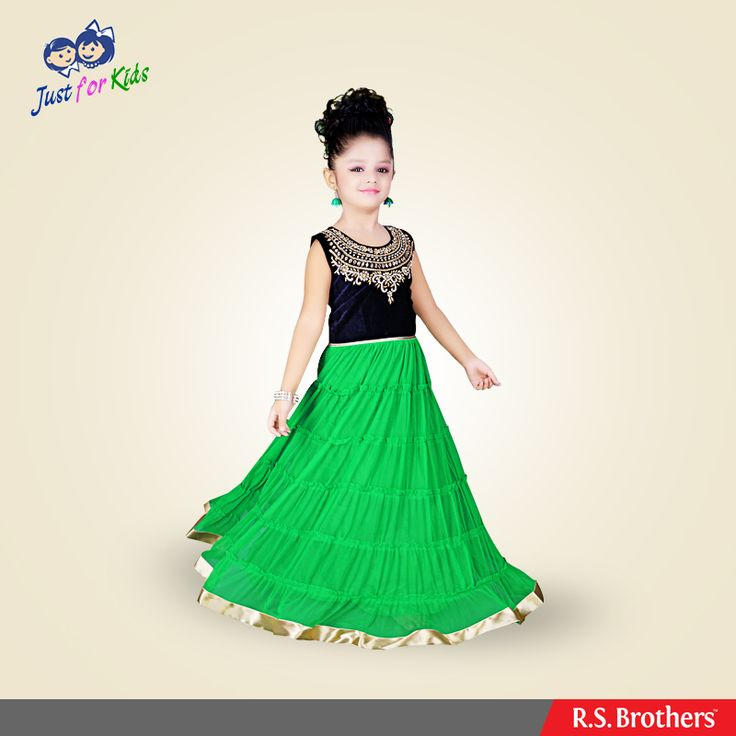 Make your daughter look like a #Princess by adorning this prettily designed #LongFrock from #RSBrothers. Kids collections in more designs exclusively available @R.S.Brothers.