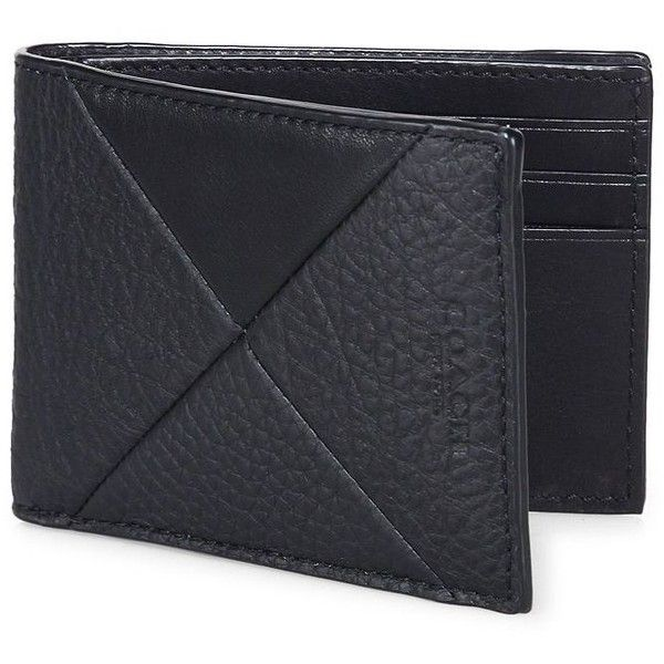 COACH Slim Billfold Wallet ($160) ❤ liked on Polyvore featuring men's fashion, men's bags, men's wallets, apparel & accessories, black, coach mens wallet, mens slim wallet and mens leather wallets