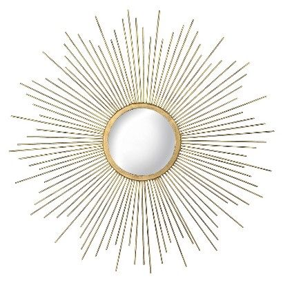 23″ Sunburst Decorative Wall Mirror Metal Gold/Silver – Threshold™