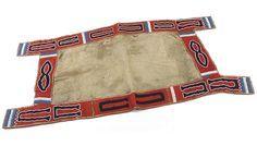 Ute Satteldecke, ca. 1850. Colorado oder Utah. Pony beads, Wollstoff