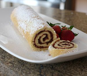 Jelly Roll Cake With Jam Filling - Photo of Jelly Roll © Diana Rattray
