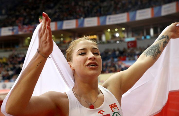 Ewa Swoboda - brązowy medal w biegu na 60 m
