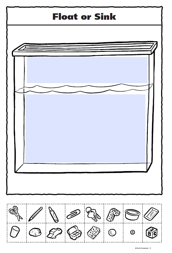 Float or Sink Cut and Paste Printable