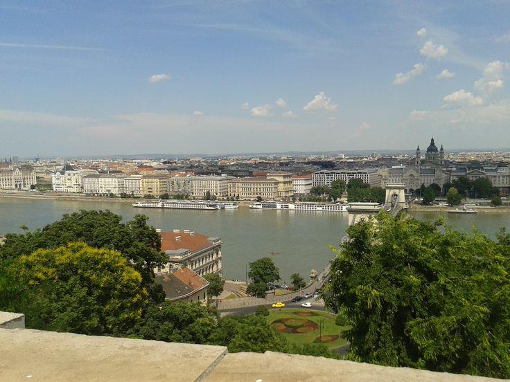 Duna as seen from Buda Castle, Budapest