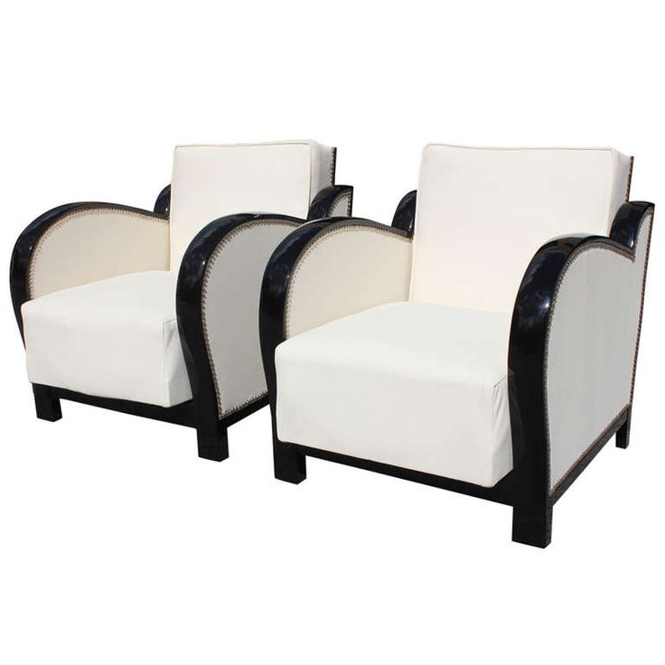 Broyhill Sofa Pair French Art Deco Curved Arm Speed Style Reclining Club Chairs c