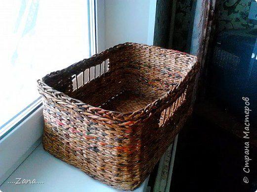 Szövött alj                                   Вот такой короб у меня получился.просили для картошки.дальше немного фоток процесса. фото 1