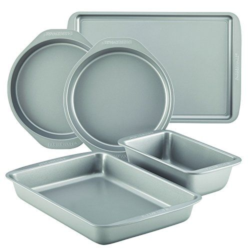 farberware nonstick bakeware 5piece baking pan set gray check this awesome product by - Bakeware Sets