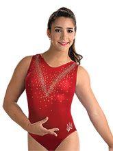 Aly Raisman Red Mystique Leotard from GK Gymnastics